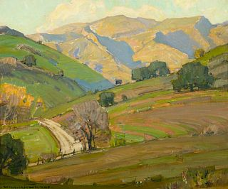 William Wendt (1865-1946), Morning Light, San Dimas (1912)