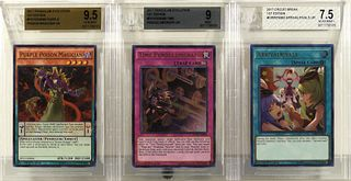 3 YuGiOh 2017 1st Ed. Holo BGS Trading Card Group