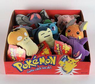 8 1999 Hasbro Nintendo Pokemon Plush Store Display