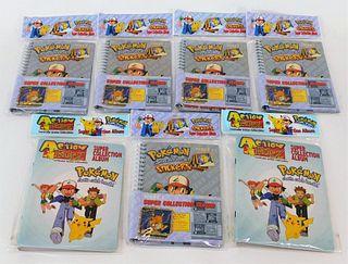7PC 1999 Nintendo Pokemon Action Flipz Sticker Lot