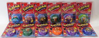 12PC Toy Biz Pokemon Sealed Collector Marble Cases