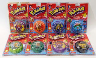 8PC Toy Biz Pokemon Sealed Collector Marble Cases