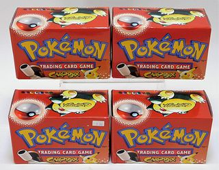 4PC 1999 WOTC Pokemon NOS TCG Trading Card Box