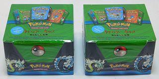 2PC 1999 WOTC Pokemon Factory Sealed Deck Box