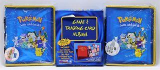 3PC 1999 Pokemon TCG Sealed Binder Accessory Group