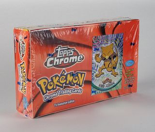 2000 Topps Chrome Pokemon Series 1 Booster Box