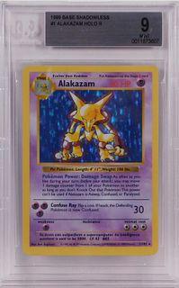1999 Pokemon Base Shadowless Alakazam BGS 9 Card