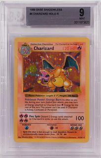 1999 Pokemon Base Shadowless Charizard BGS 9 TCG