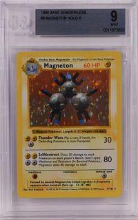 1999 Pokemon Base Shadowless Magneton BGS 9 TCG