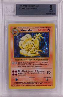 1999 Pokemon Base Shadowless Ninetales BGS 9 Card