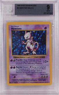1999 Pokemon Base Shadowless Mewtwo BGS 9 TCG Card