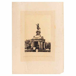 """Michaud, Julio. Fuente de la Independencia, México. México: Julio Michaud Editor, ca. 1860 - 1870. Albumen photograph, 8.3 x 5.9"""" (21.2x15.2 cm)"""