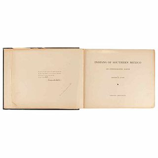 Starr, Frederick. Indians of Southern Mexico an Ethnographic Album. Chicago: Lakeside Press, 1899.