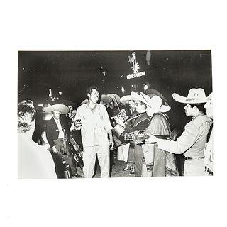"""García, Héctor. Mariachis. Mexico, ca. 1950 - 1960. Black and white photograph, 6.6 x 9.9"""" (16.8 x 25.3 cm)"""
