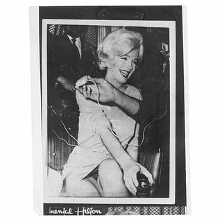 """Caballero, Antonio. Negative of the photograph of Marilyn Monroe without clothes on. Mexico, February 22nd, 1962. Negative, 3.5 x 4.7"""" (9x12cm)"""