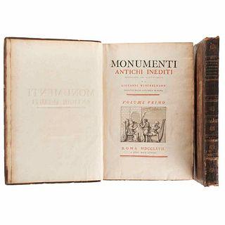 Winckelmann, Giovanni. Monumenti Antichi Inediti. Roma: A Spese Dell'autore, 1767.  First edition.