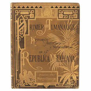 Caballero, Manuel. Primer Almanaque Histórico, Artístico y Monumental de la República Mexicana 1883 y 1884. New York,1883. 43 sheets.