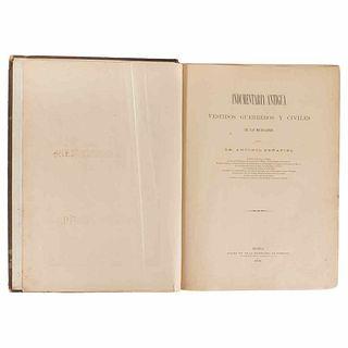 Peñafiel, Antonio. Indumentaria Antigua Mexicana. Vestidos Guerreros y Civiles de los Mexicanos. México, 1903. 202 sheets.