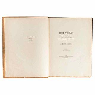Rosny, Léon de (Introduction). Codex Peresianus: Manuscrit Hiératique des Indiens de l'Amérique Centrale... Paris, 1888.