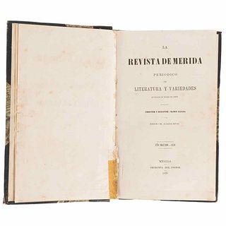 Aldana, Ramón; Brasseur de Bourbourg, Charles. La Revista de Mérida. Periódico de Literatura y Variedades. México, 1870.