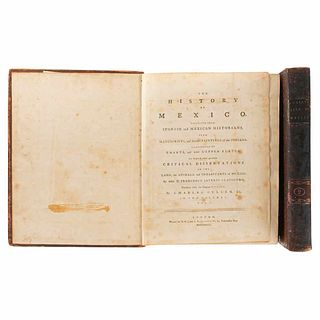 Clavigero, Francesco Saverio. The History of Mexico. London, 1787. 2 maps; 25 sheets. Tomes I-II. Pieces:2.
