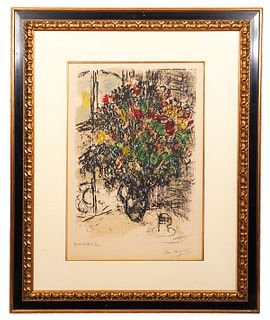 Marc Chagall Lithograph 'Bouquet Rouge'