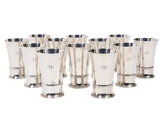 12 Tiffany & Co. Sterling Tumblers