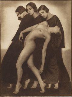 RUDOLF KOPPITZ (1884–1936) 'Bewegungsstudie' (Movement Study), 1925