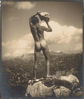 RUDOLF KOPPITZ (1884–1936) 'Der Steinwerfer' (Self-portrait), 1923