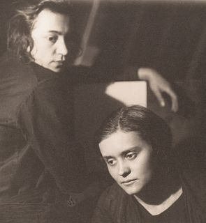 JAROSLAV RÖSSLER (1902–1990) Double-portrait (Gertruda Fischerova and Jarmila Rambouskova)), Prague 1924