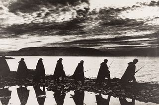 JEWGENI CHALDEJ (1917–1997) Soldiers at Sunset, Russia 1943