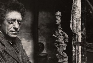 RENÉ BURRI (1933–2014) Alberto Giacometti in his studio, Rue Hippolyte Maindron, Paris 1960
