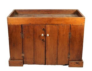 American Primitive Dry Sink Cupboard