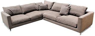 "Molteni & C ""L"" Shaped Designer Sofa"