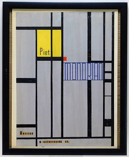 Artwork For Piet Mondrian Abstract Advertising