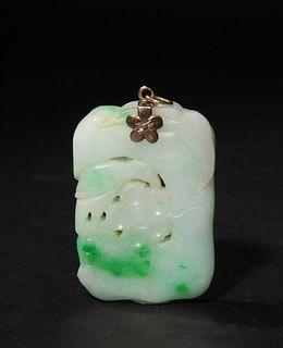 Chinese Jadeite Pendant, 19th Century