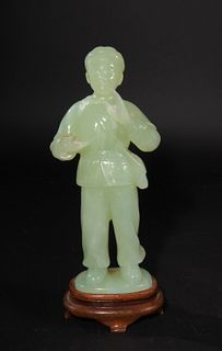 Chinese Carved Jade Cultural Revolution Figure