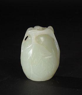 Chinese White Jade Melon, 19th Century
