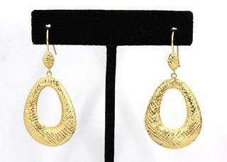 Jacmel Mauritius Designer 14K Yellow Gold Earrings