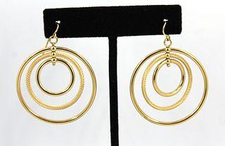 Milor Designer 14K Yellow Gold Hoop Earrings