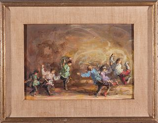 """Lee Jackson """"Dancers of the Moiseyev Troupe"""" Oil"""