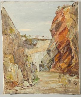 Agnes Richmond Rocky Landscape Oil on Canvas
