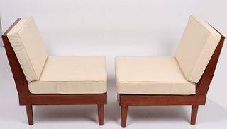 H. Rockwood New Hope Style Lounge Chairs, Pr
