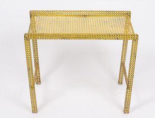 Mathieu Mategot Enameled Rigitulle Metal Table