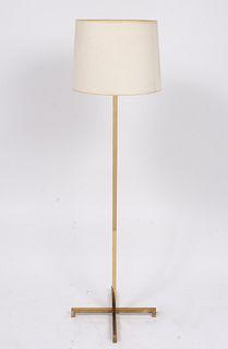Robsjohn-Gibbings Brass Three- Light Floor Lamp
