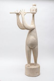 Bjorn Wiinblad Style Sculpture of a Flute Player