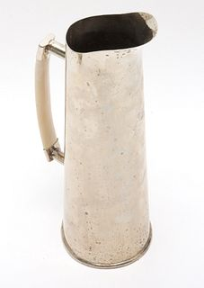 Modern Silver-Plate Pitcher with Bone Handle