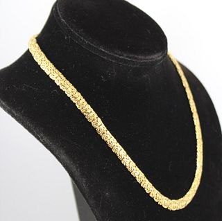 Atasay Jewelry Designer 14K Yellow Gold Necklace