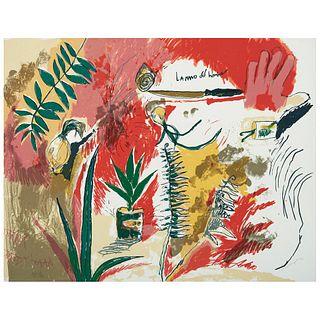 Magali Lara (Ciudad de México, 1956 - ), La mano del hombre. , Serigrafía P / T I / V. Firmada y fechada 92.