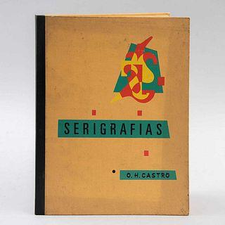 Carpeta de 9 serigrafías de Oscar H. Castro. Seriadas 112/150, 25 x 20 cm (mayor)